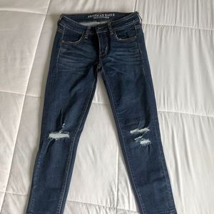Denim ankle jeans